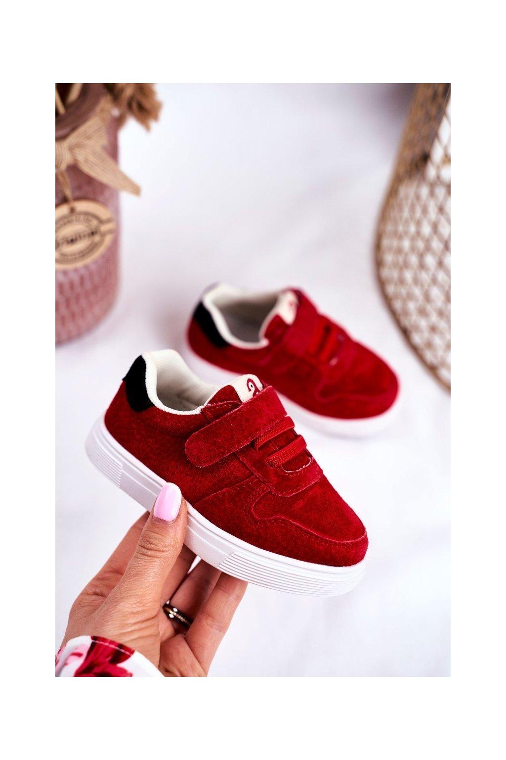 Detské tenisky farba červená kód obuvi NQ86 NC112 RED