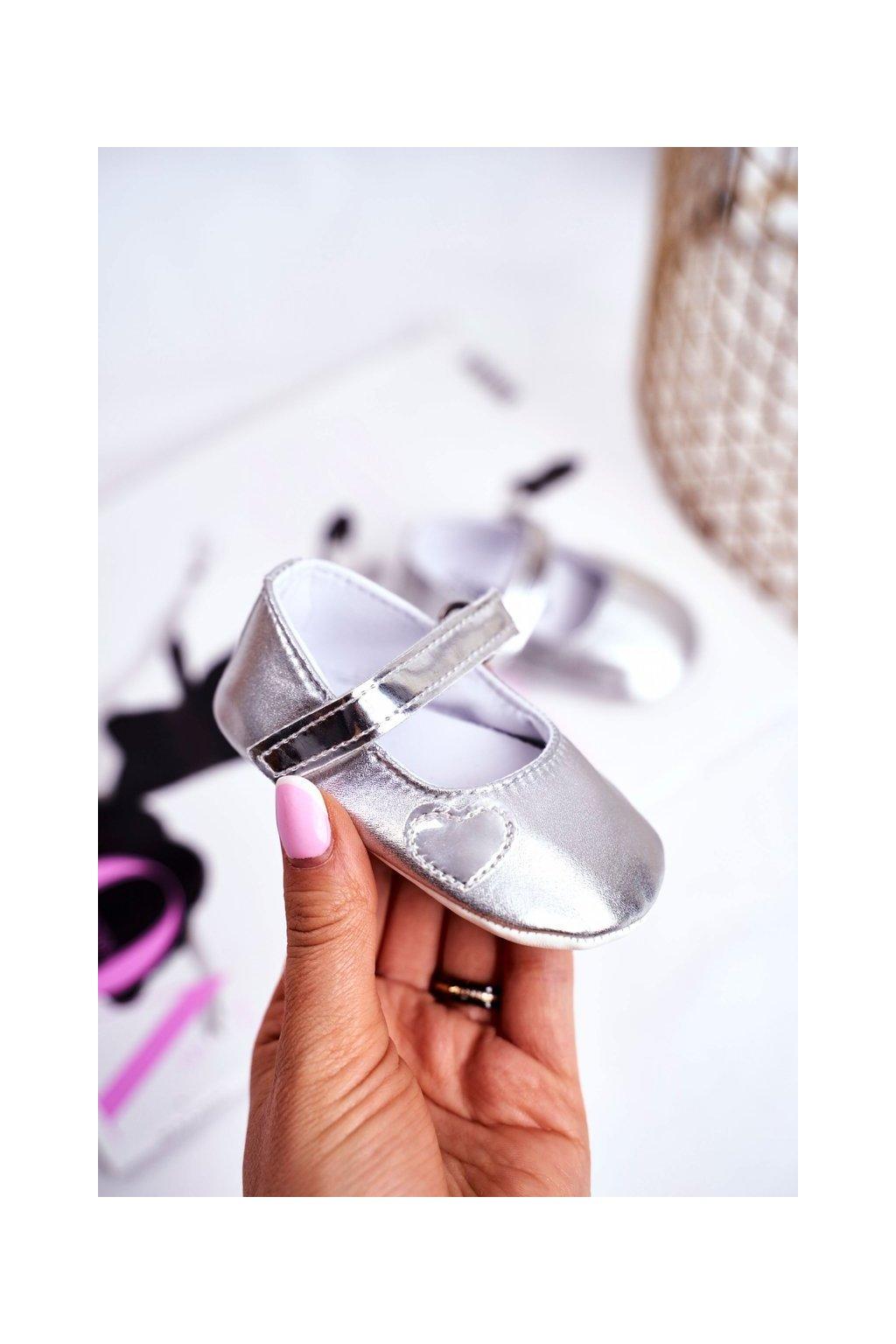 Detské balerínky farba sivá kód obuvi YC187 SILVER