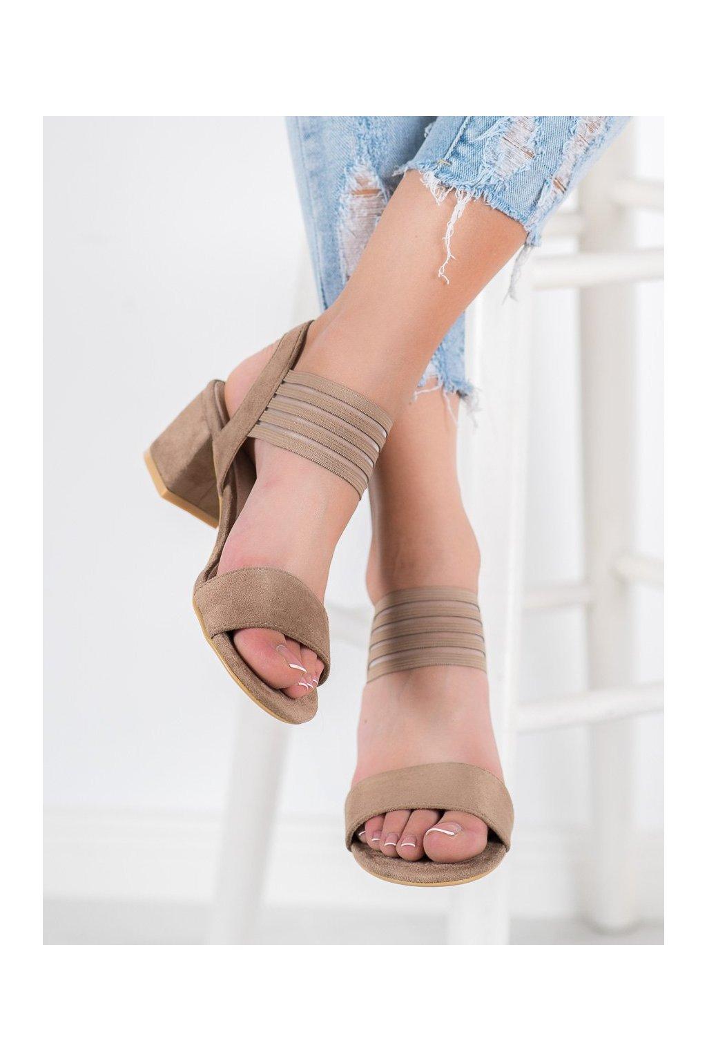 Hnedé sandále Filippo NJSK DS1289/20BE