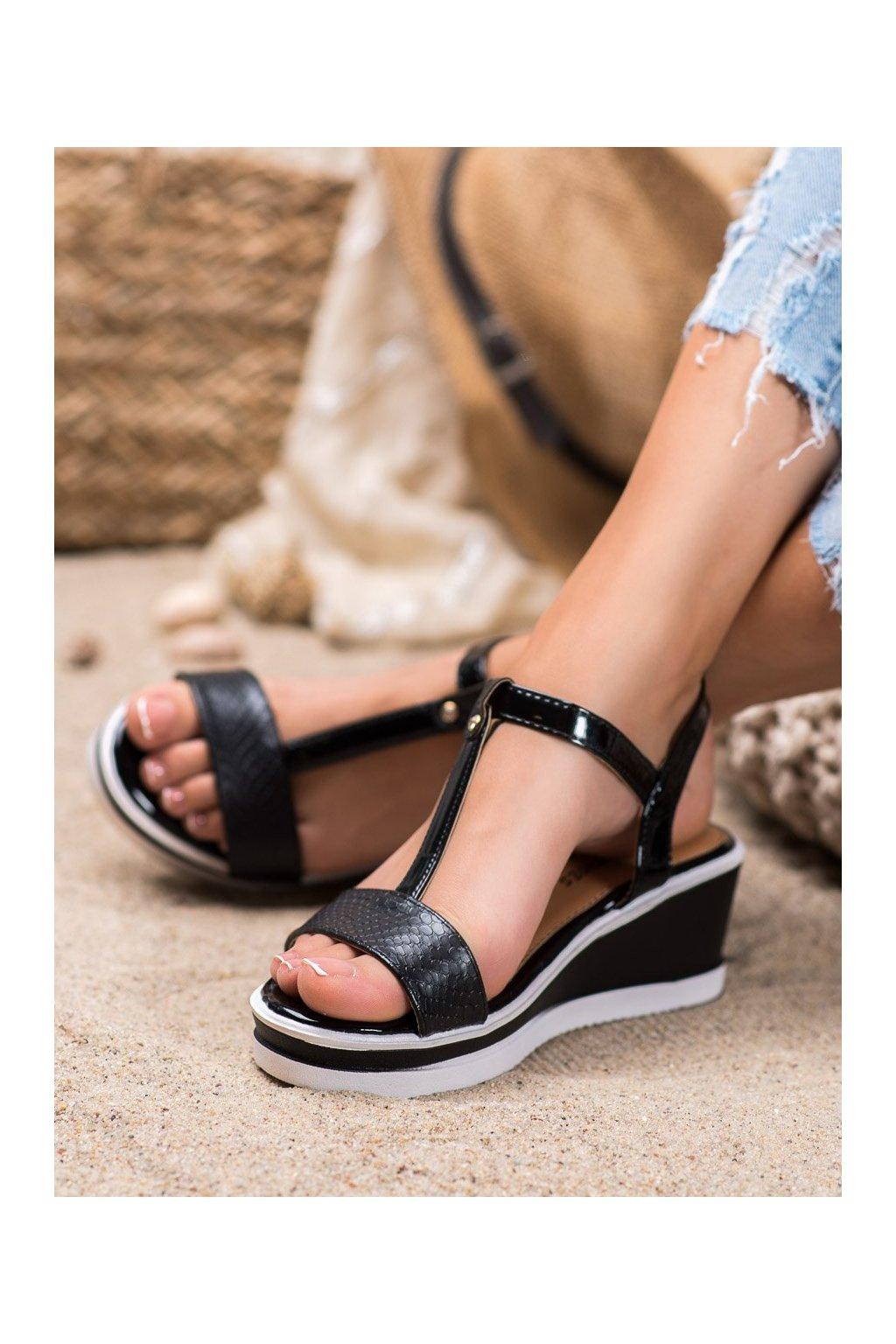 Čierne sandále Shelovet kod 88-44B