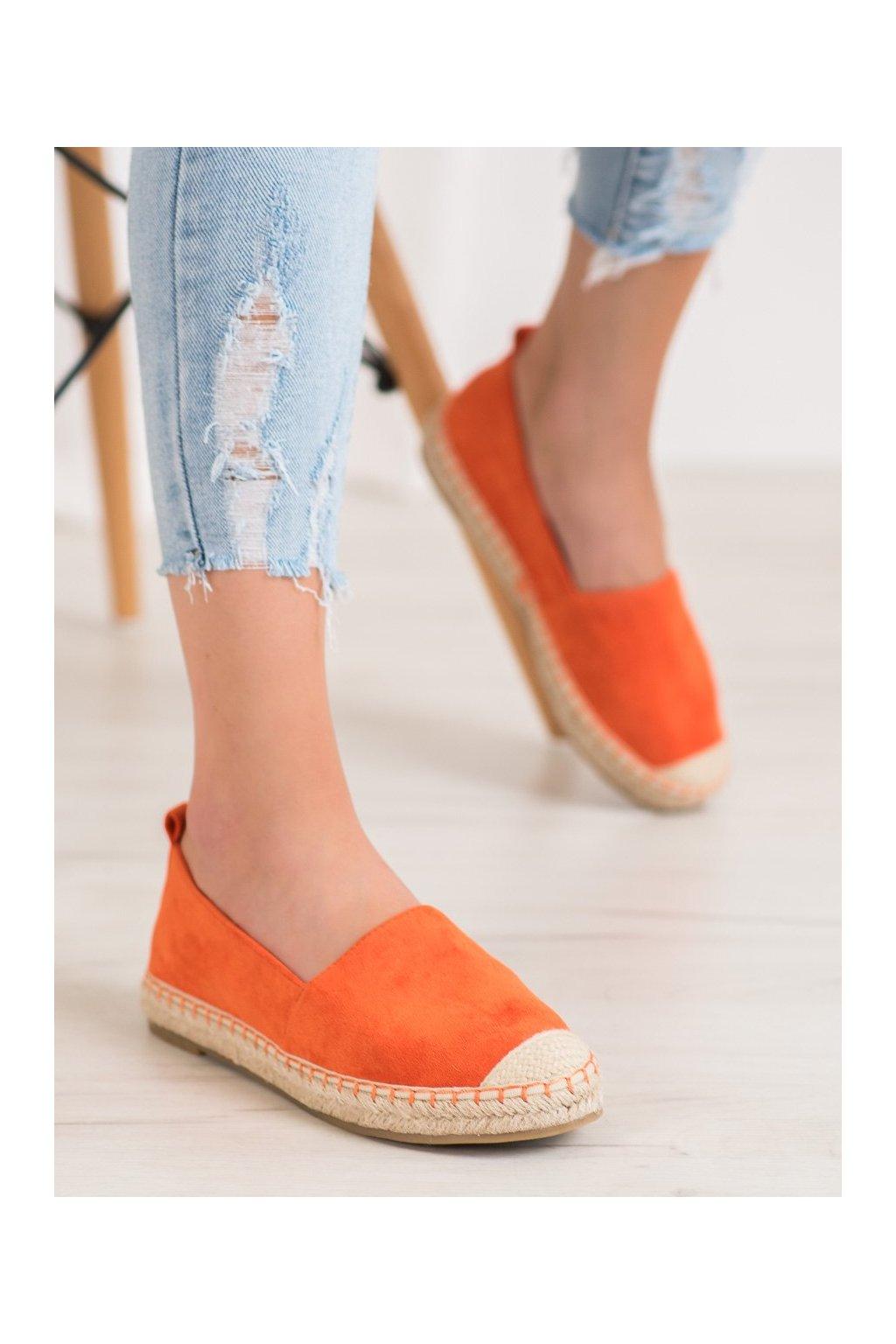 Oranžové tenisky Anesia paris kod L-1068OR