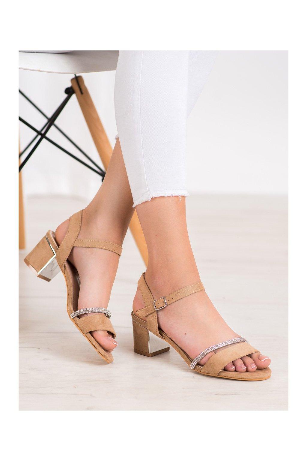 Hnedé sandále Anesia paris kod 88-390BE