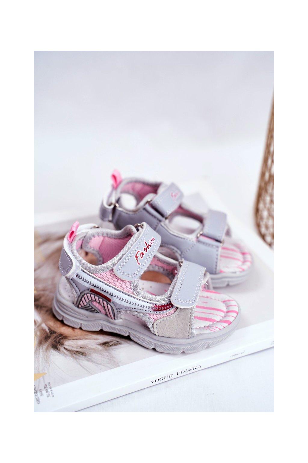 Detské sandále farba sivá kód obuvi A1486 LT.GREY