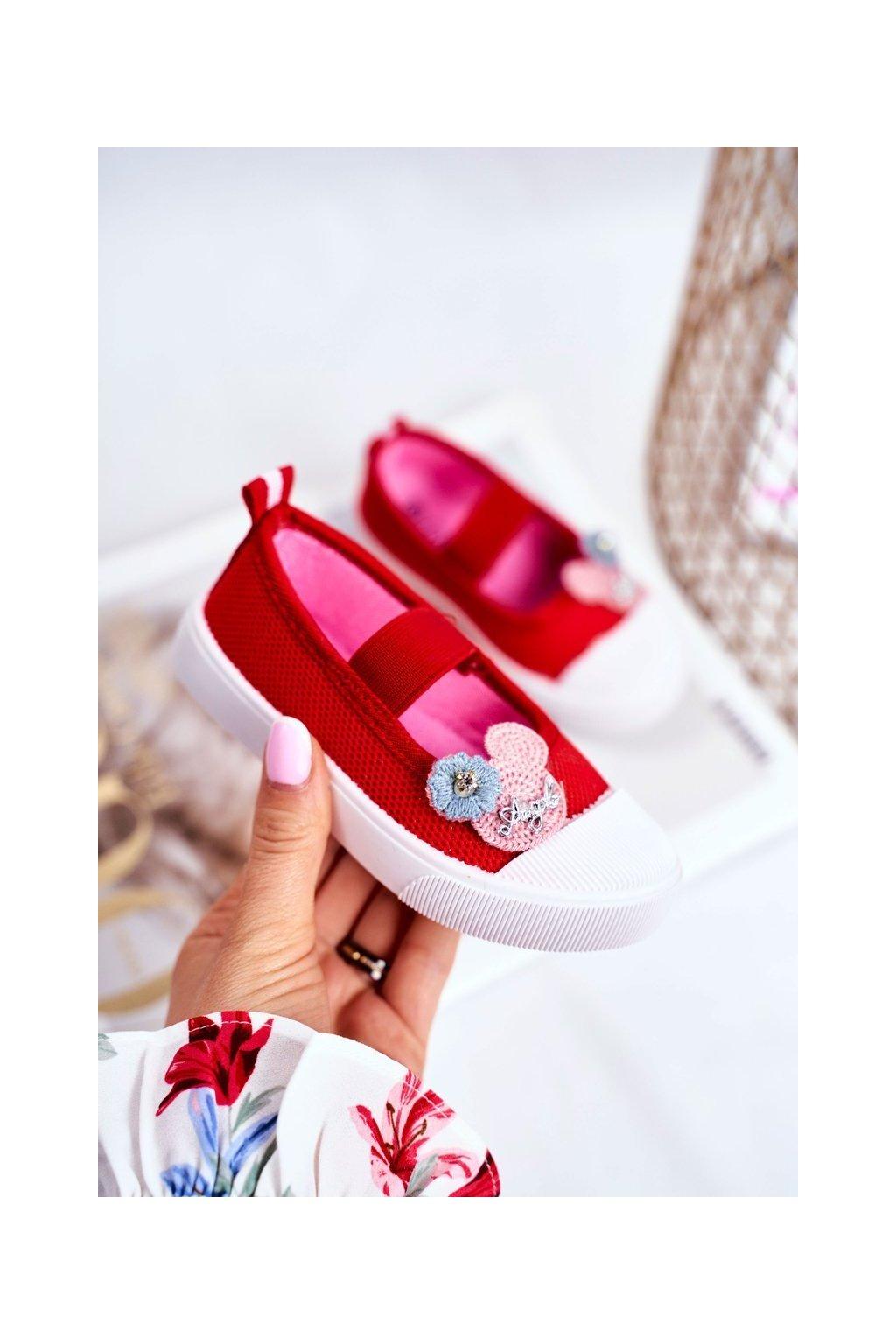 Detské tenisky farba červená kód obuvi A1459 RED