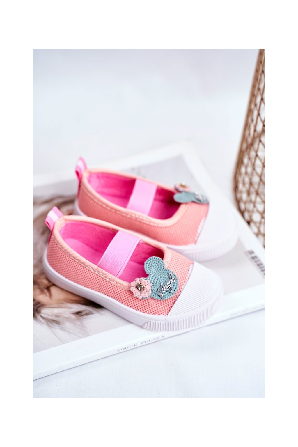 Detské tenisky farba ružová kód obuvi A1459 DK.PINK