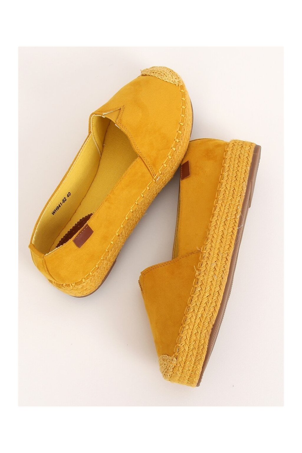 Dámske sandále žlté na plochom podpätku WH941