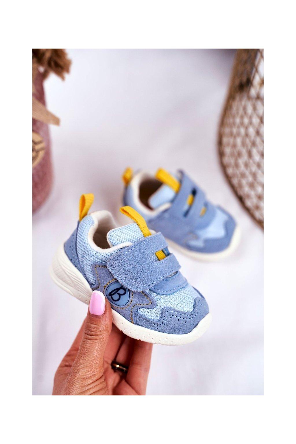 Detské tenisky farba modrá kód obuvi IJ53 BLUE