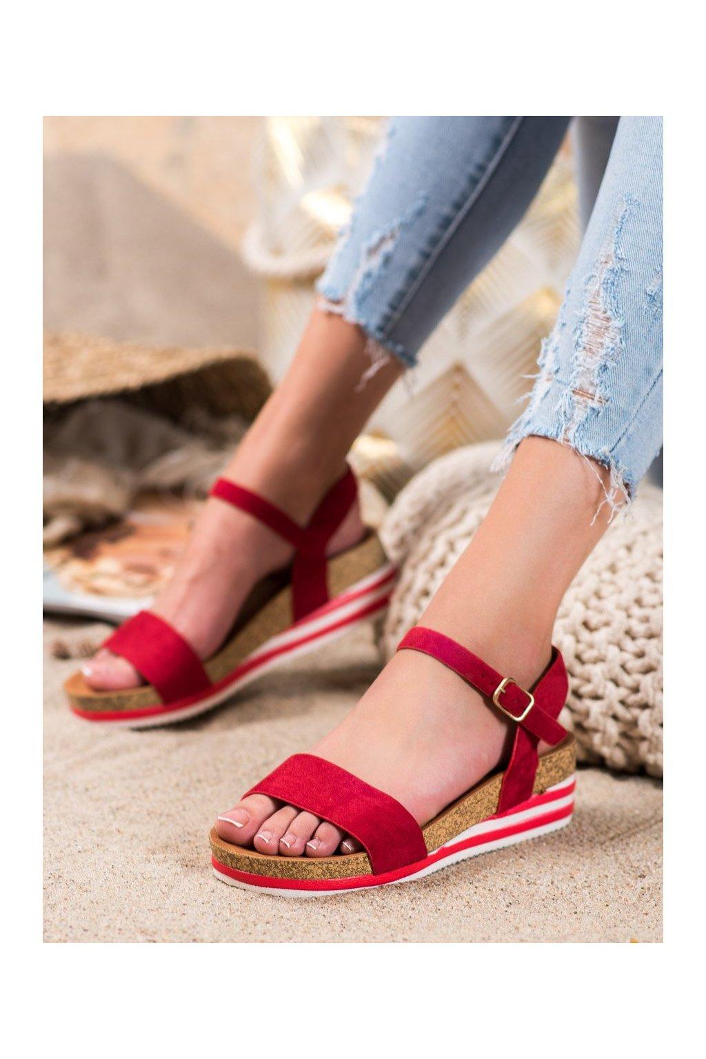 Červené sandále Renda kod RD054R