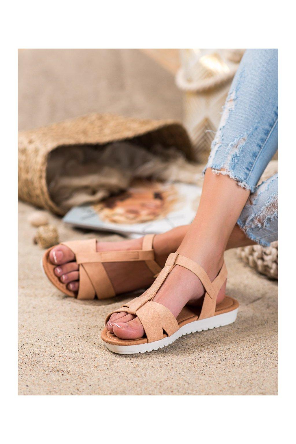 Hnedé sandále Shelovet kod SBX-29BE