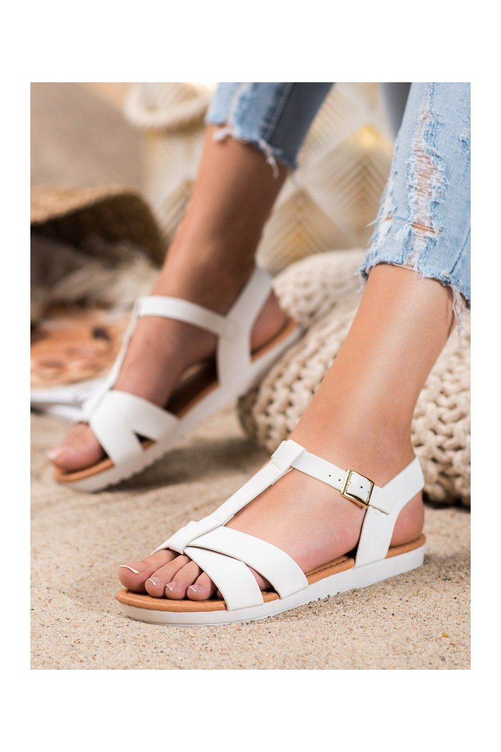 Biele sandále Shelovet kod SBX-29W