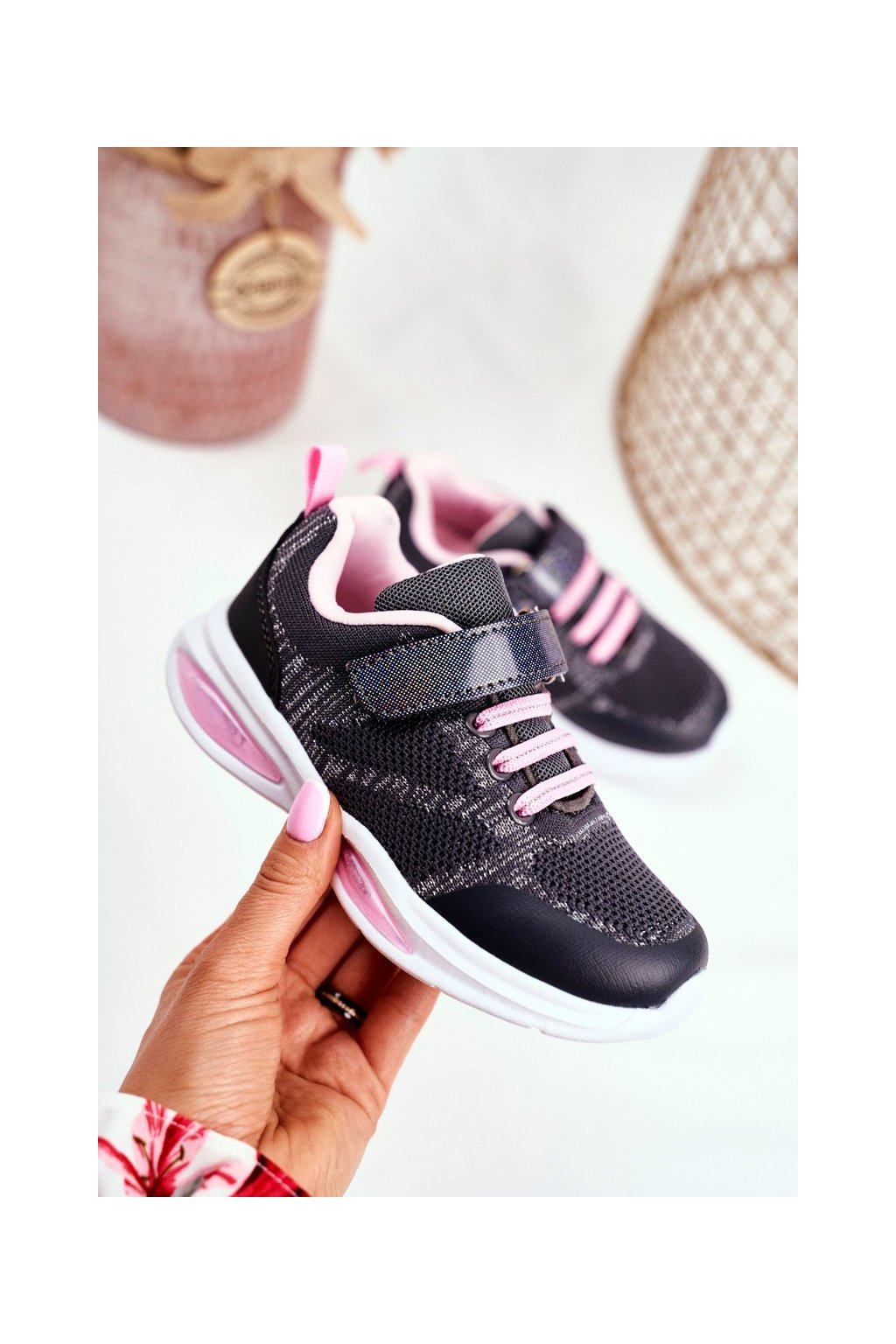 Detské tenisky farba sivá kód obuvi 20DZ55-2318 GREY
