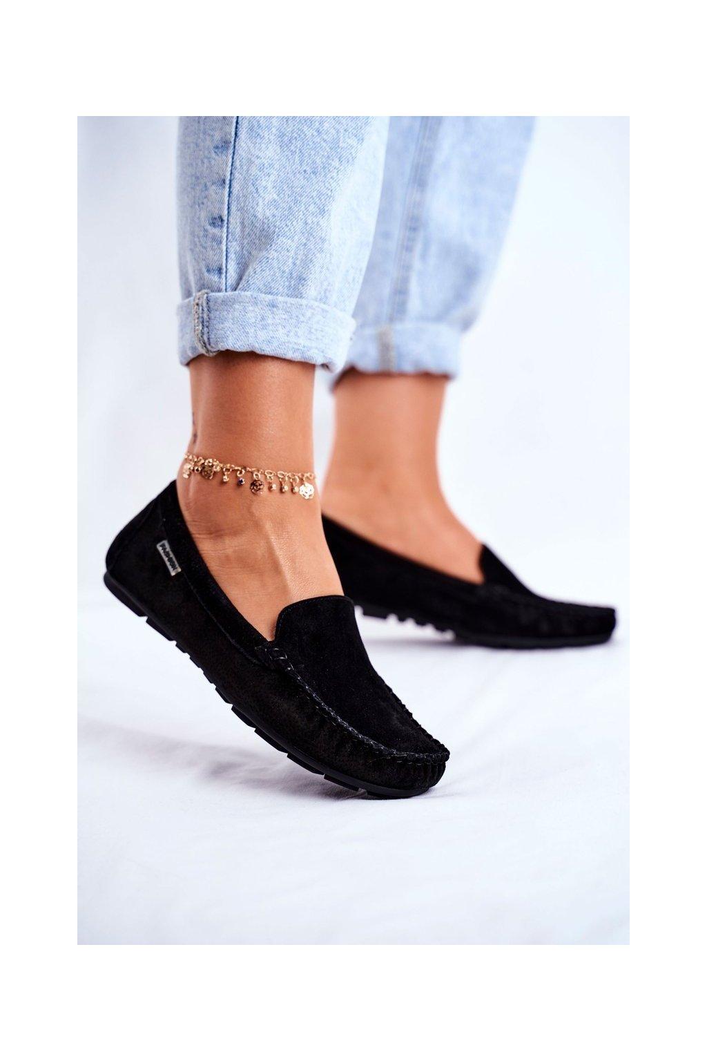 Dámske mokasíny farba čierna kód obuvi OCA20-2166 BLK
