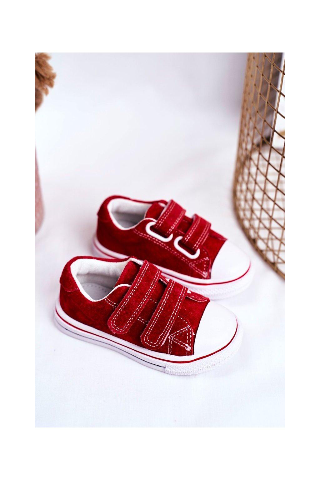 Detské tenisky farba červená kód obuvi QC65 RED