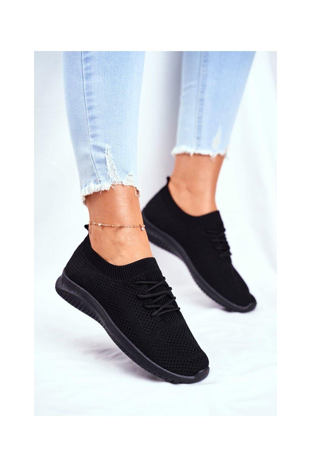 Čierna obuv kód topánok 6309 BLK