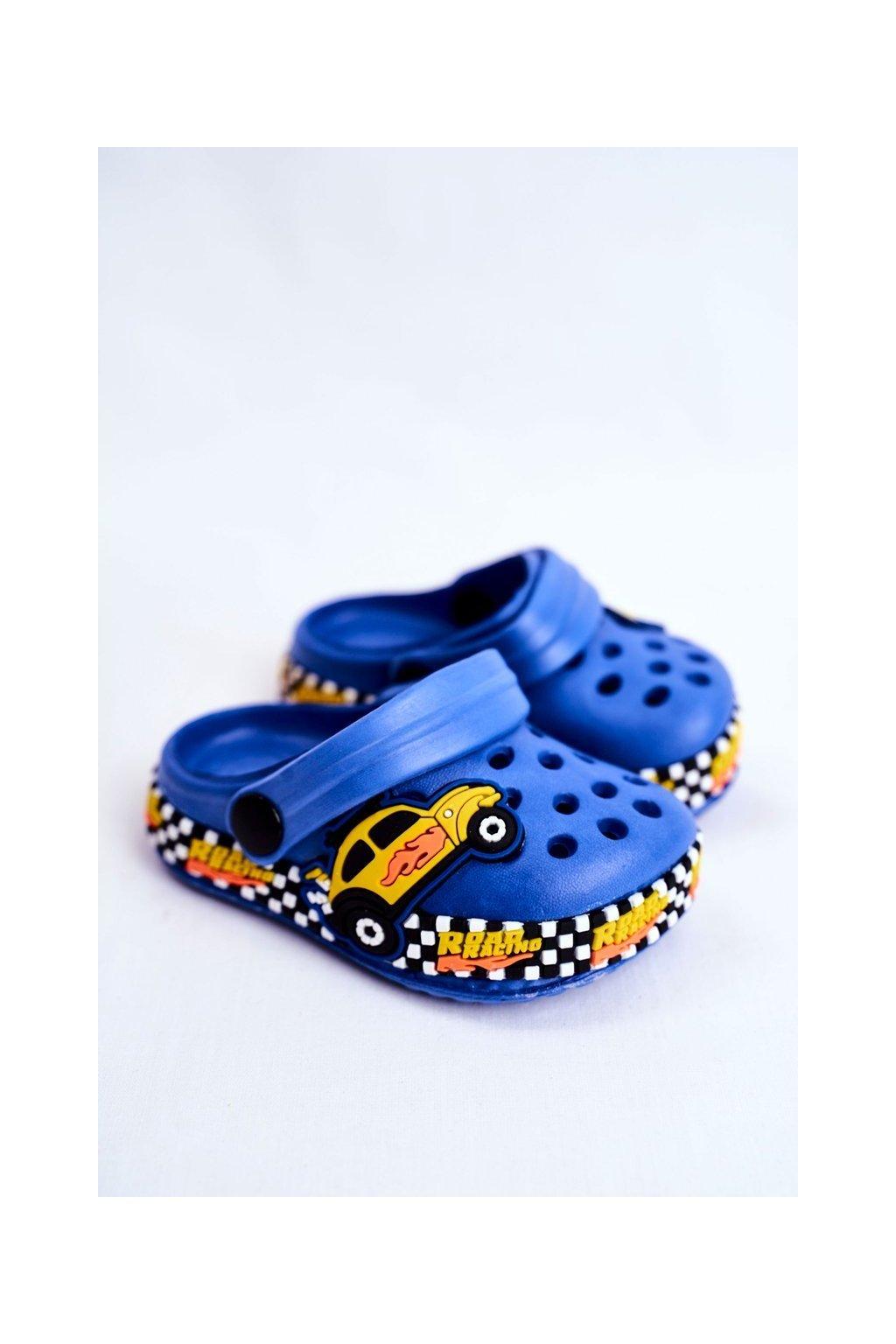 Detské šľapky farba modrá kód obuvi JHCG20-GY1994D BLUE
