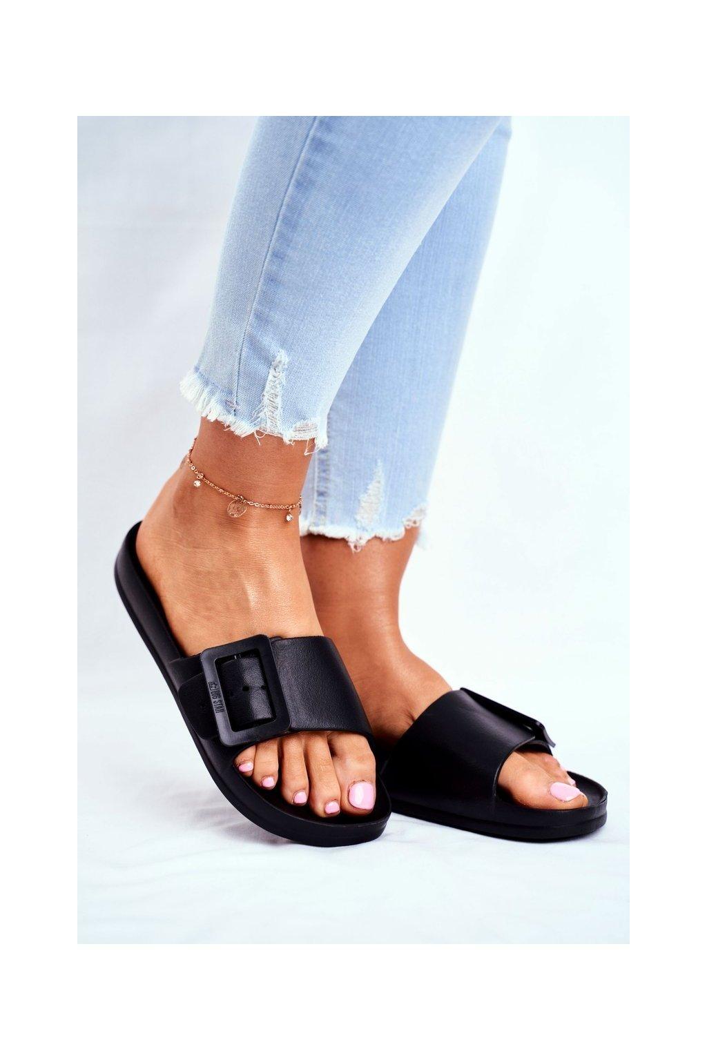 Dámske šľapky farba čierna kód obuvi FF274A389 BLACK