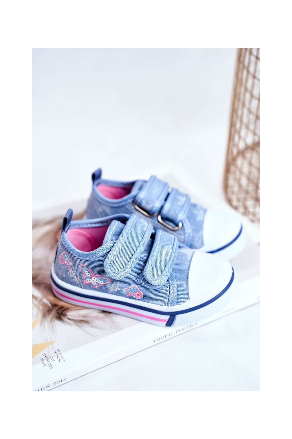 Detské tenisky farba modrá kód obuvi A1454 A2098 LT.BLUE