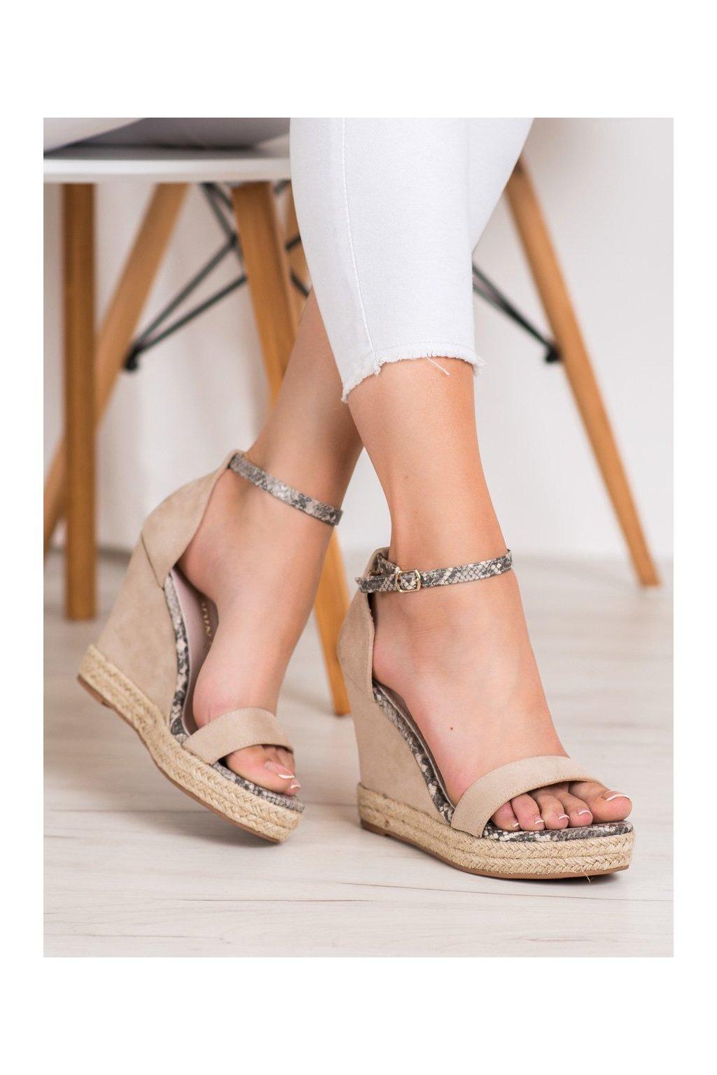 Hnedé sandále Goodin kod GD-NF-07BE