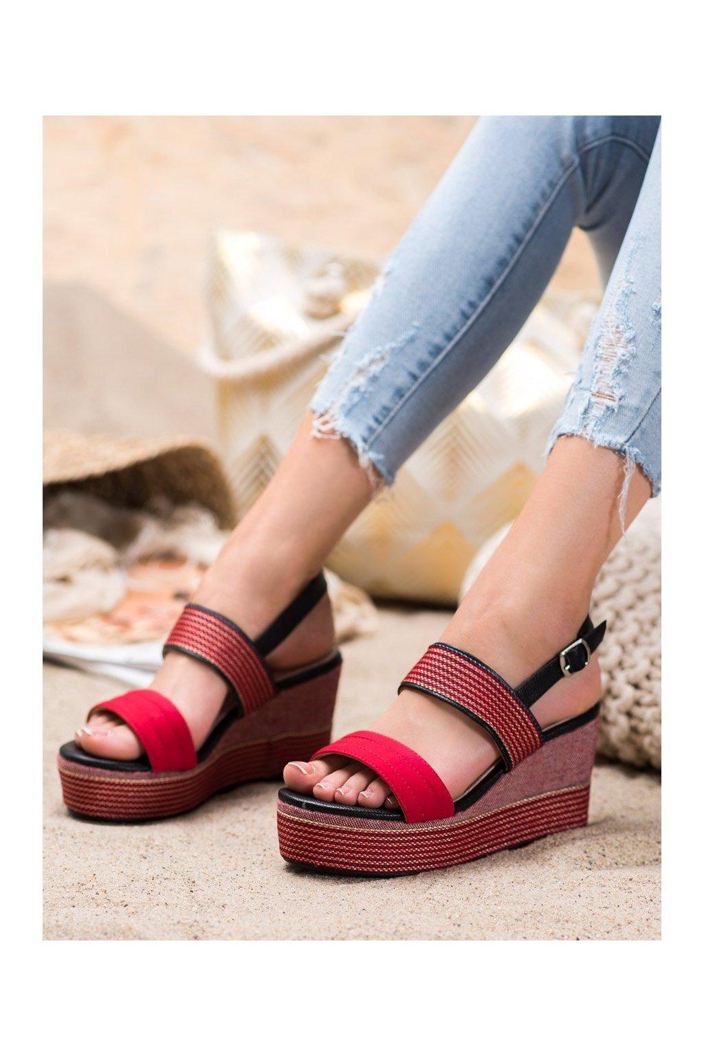 Červené sandále na platforme Goodin kod GD-NF-04R