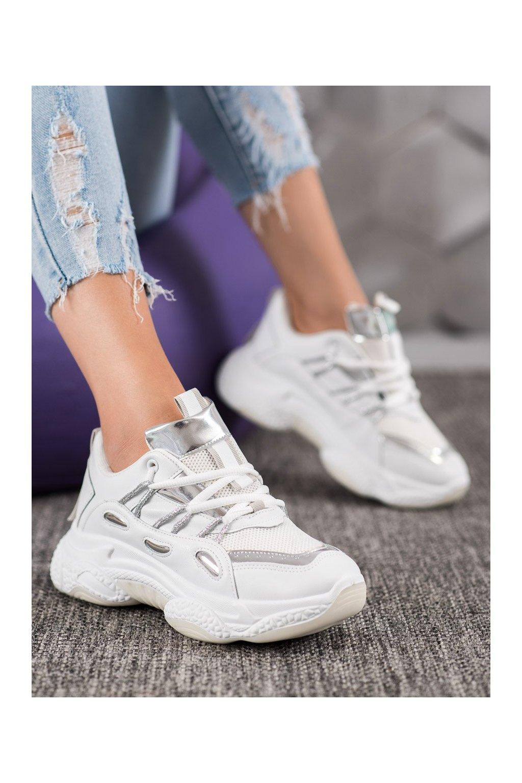 Biele tenisky Shelovet kod AB682W/S