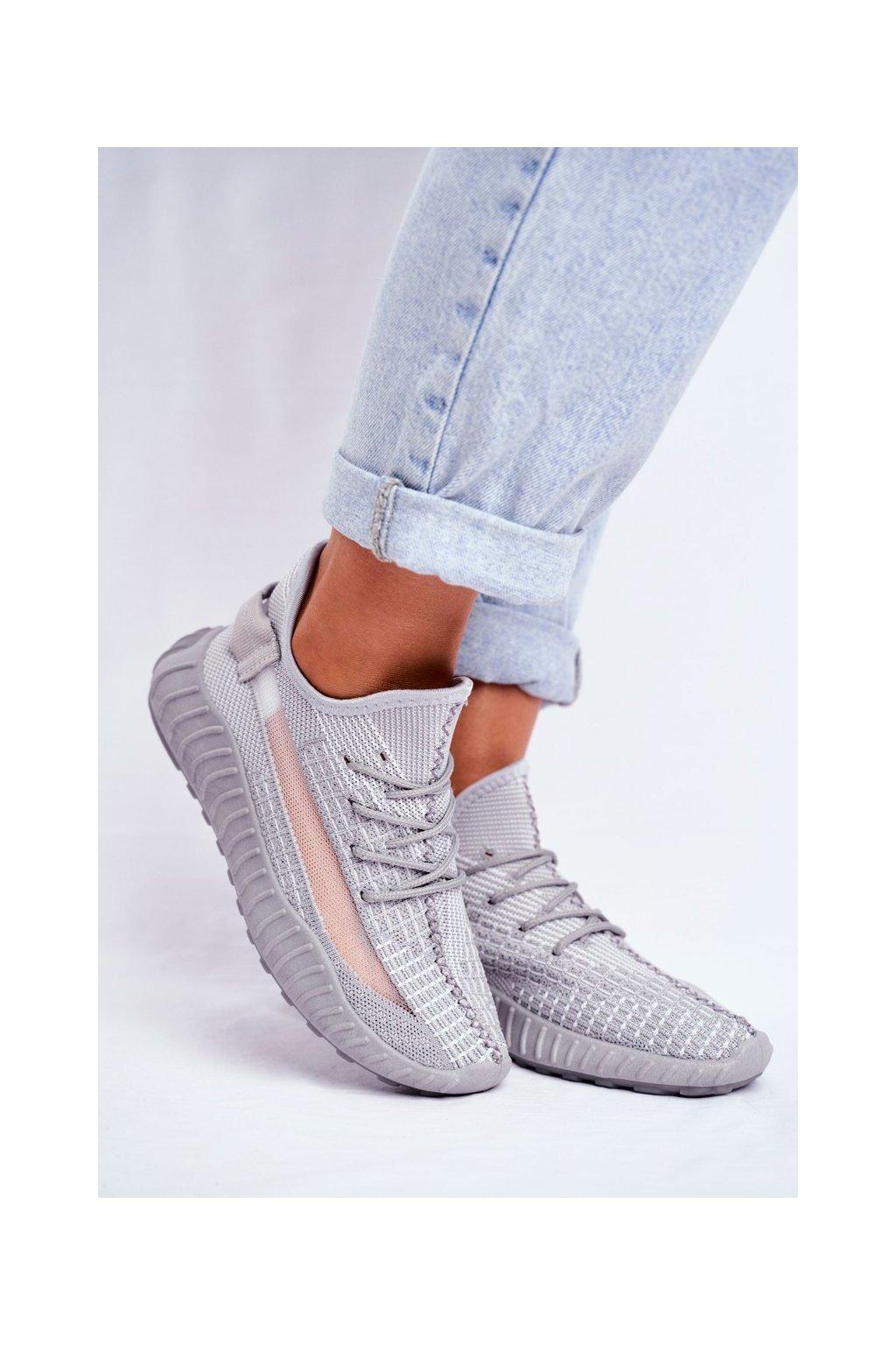 Sivá obuv kód topánok LA90 GREY