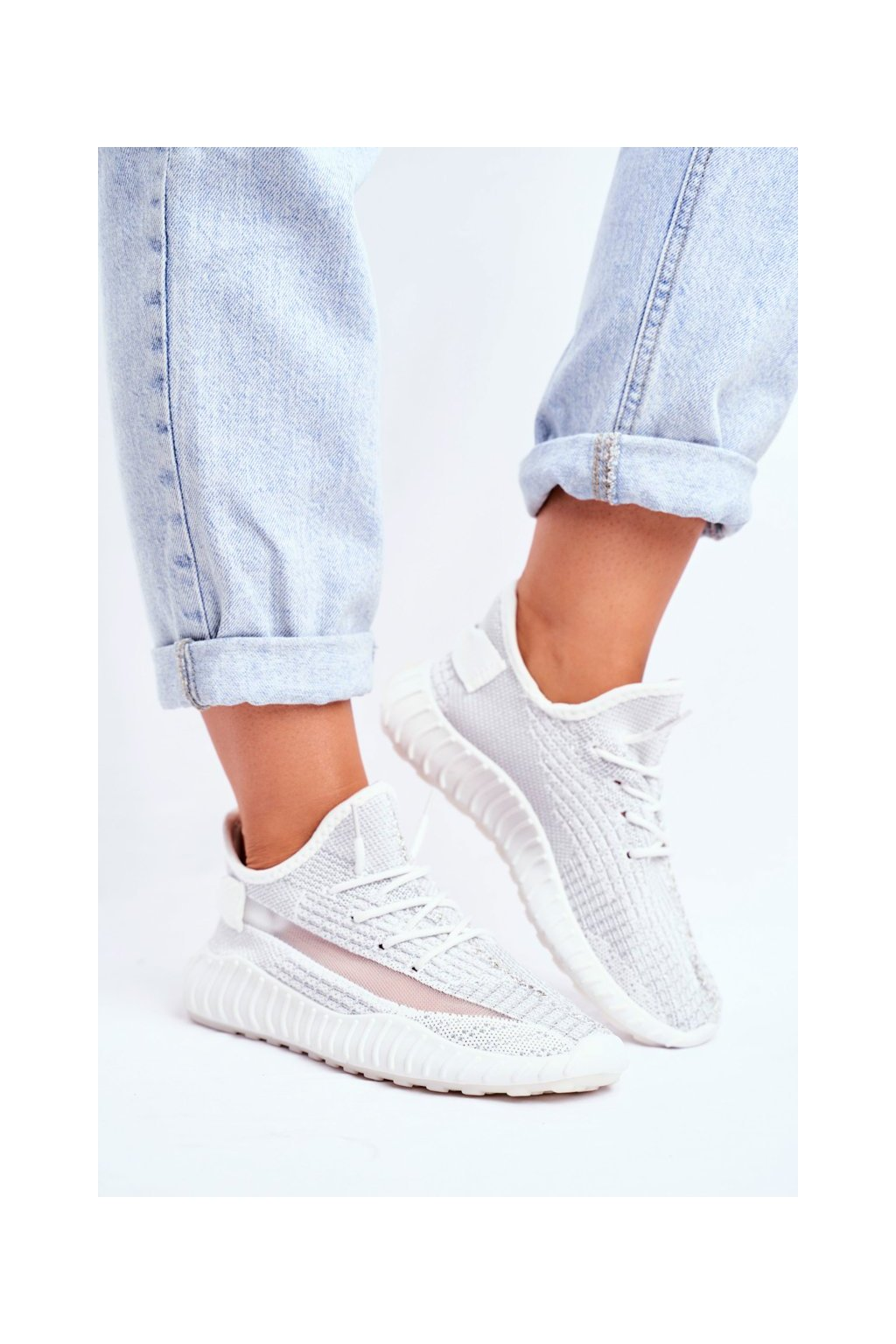 Dámske tenisky farba sivá kód obuvi LA90 SILVER