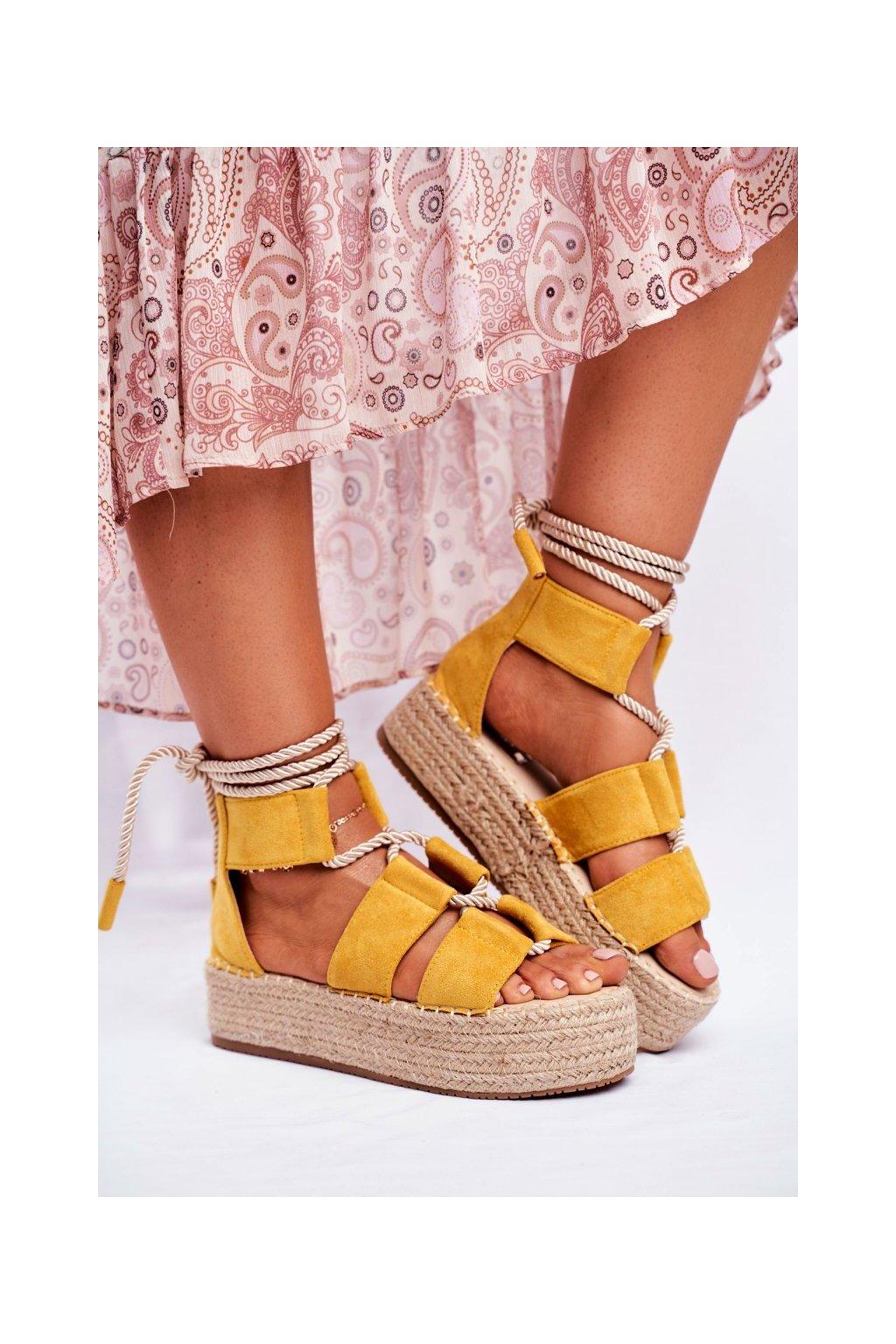 Dámske espadrilky farba žltá kód obuvi JH89 YELLOW