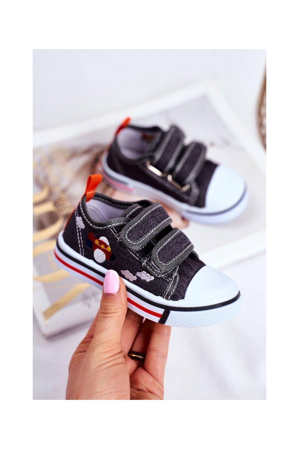 Detské tenisky farba sivá kód obuvi A1458 A2102 GREY