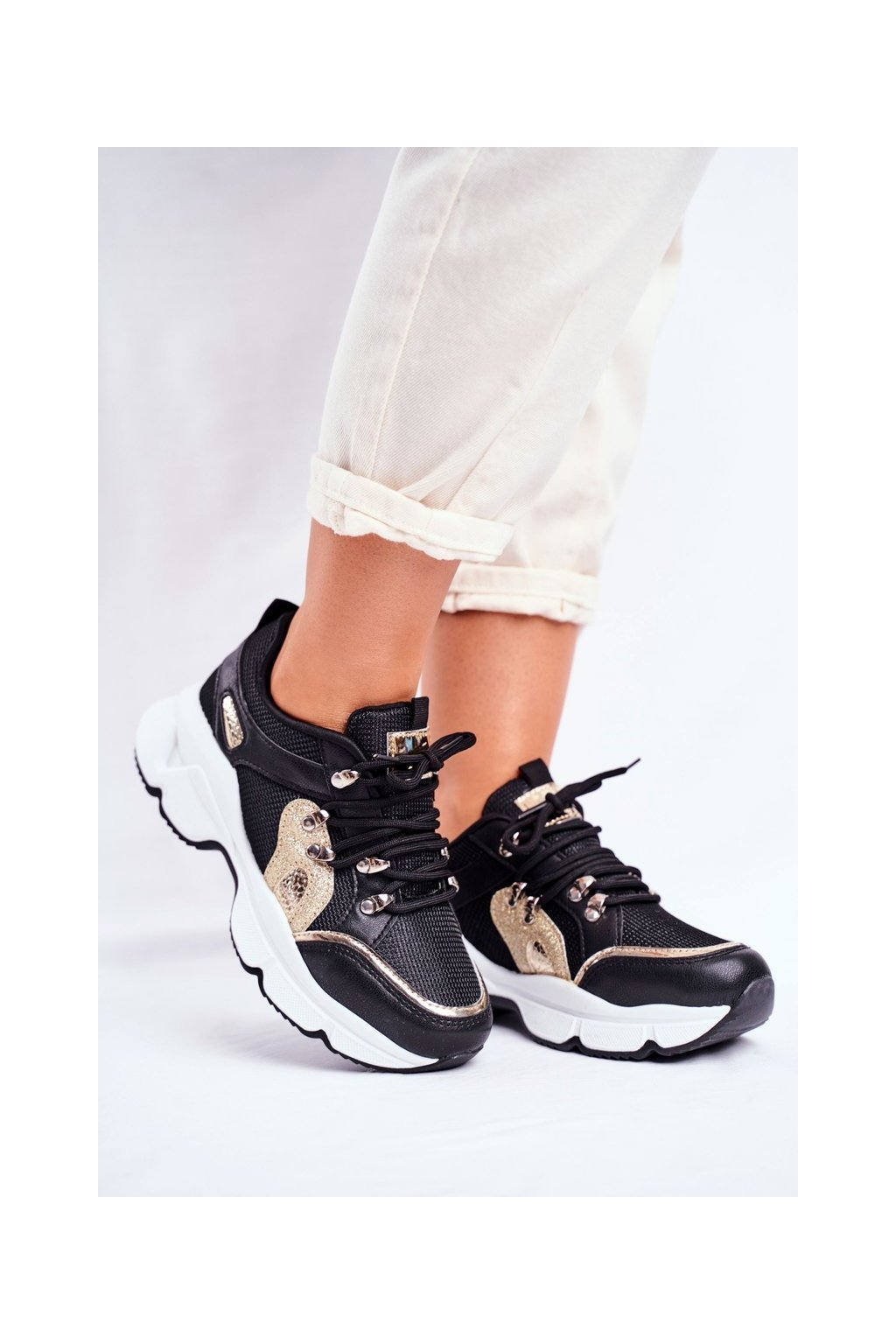 Dámske tenisky farba čierna kód obuvi BL199 BLK