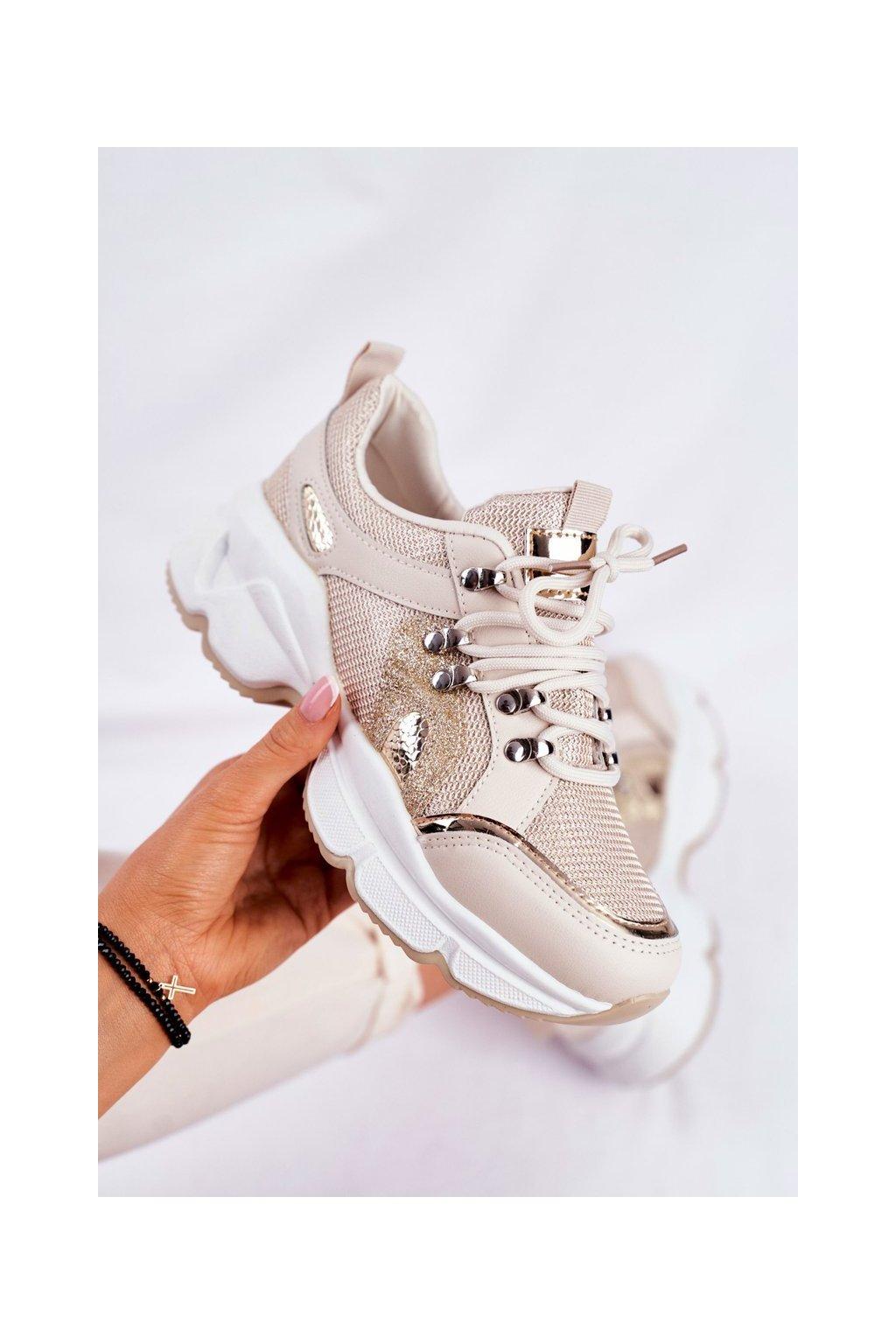 Žltá obuv kód topánok BL199 GOLD