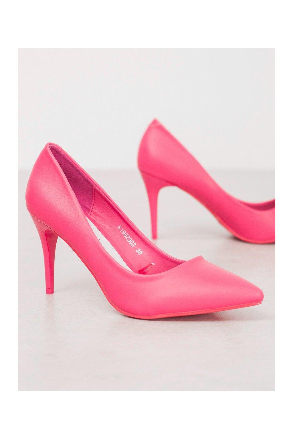 Ružové dámske lodičky Kylie NJSK K1952303F