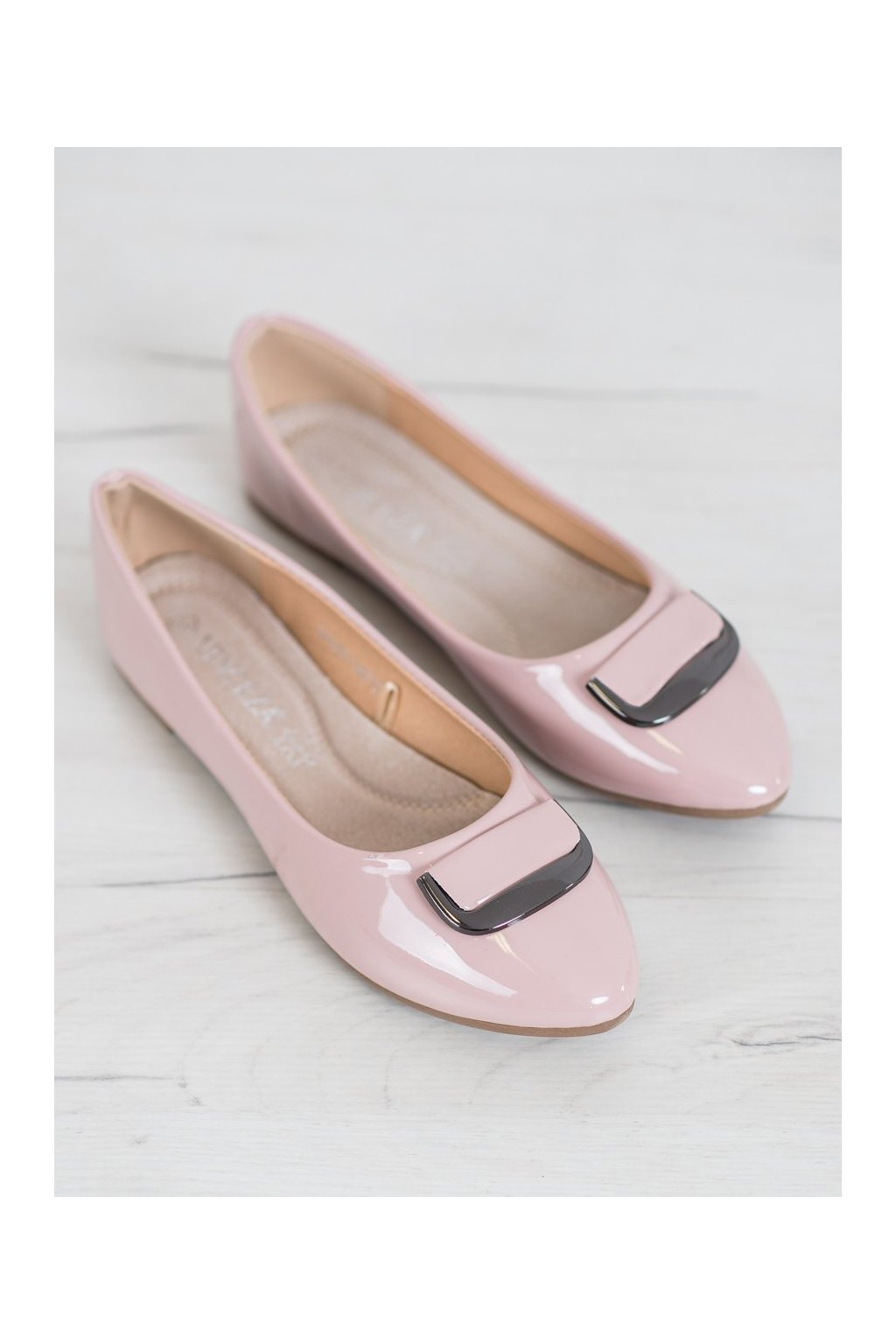 Ružové dámske balerínky Vinceza NJSK BOB20-18015P