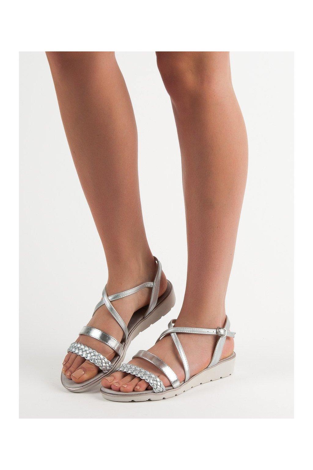 Sivé sandále Kylie NJSK K1915005PL