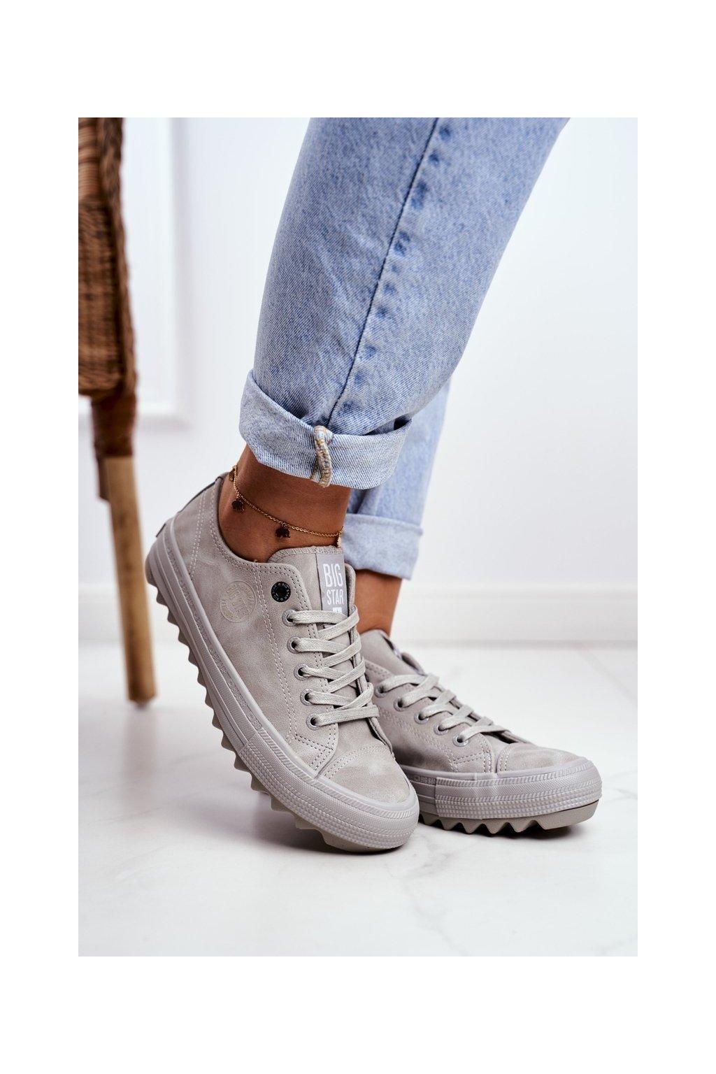 Dámske tenisky farba sivá kód obuvi GG274075 GREY