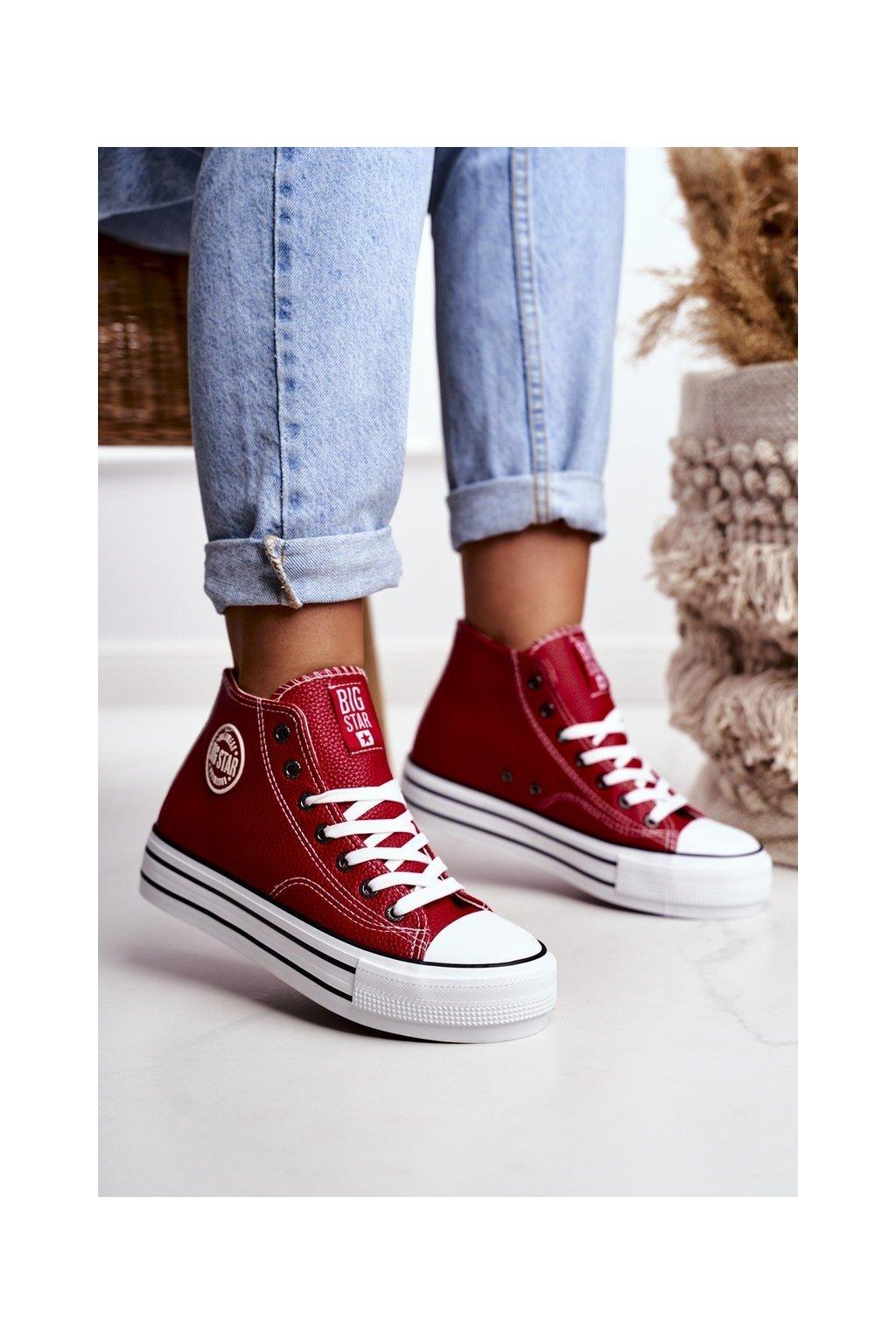 Dámske tenisky farba červená kód obuvi GG274014 RED