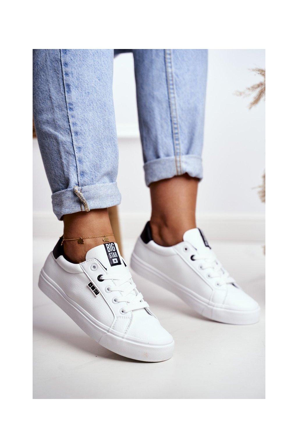 Dámske tenisky farba biela kód obuvi EE274312 WHITE BLK