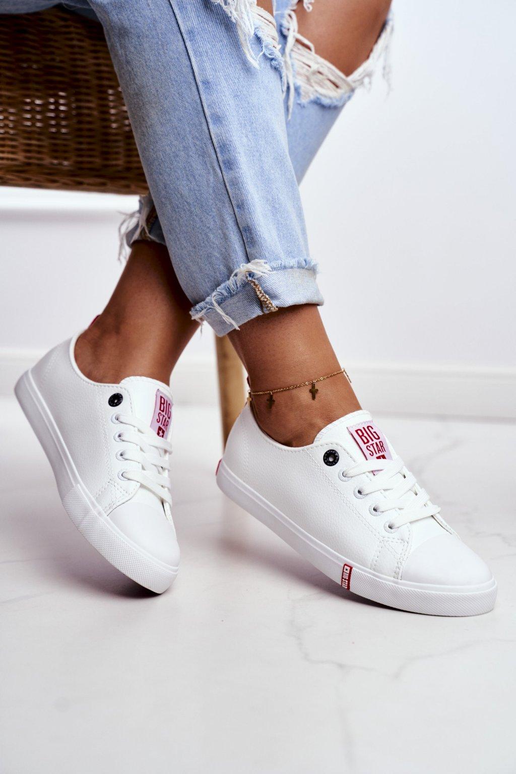 Dámske tenisky farba biela kód obuvi GG274005 WHITE/RED