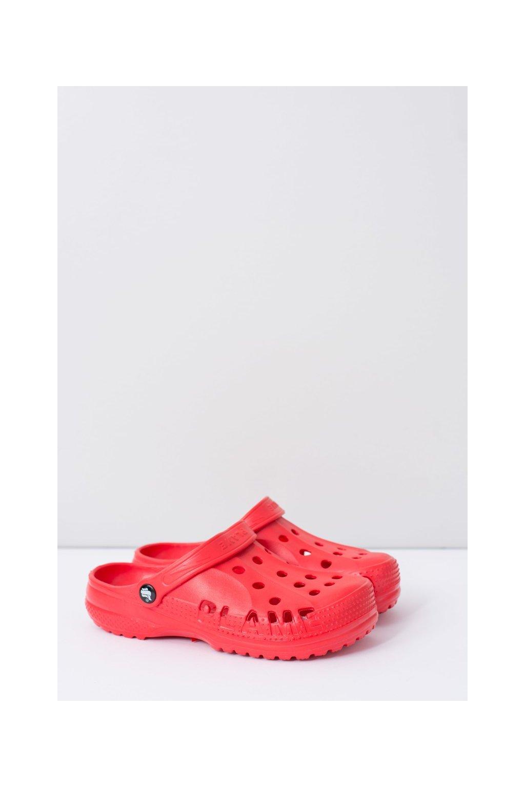 Dámske šľapky farba červená kód obuvi B-2008 RED