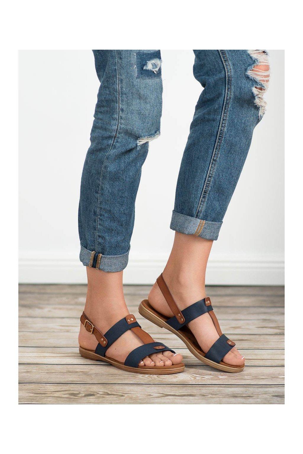 Modré sandále Evento NJSK 8SD35-0307BL