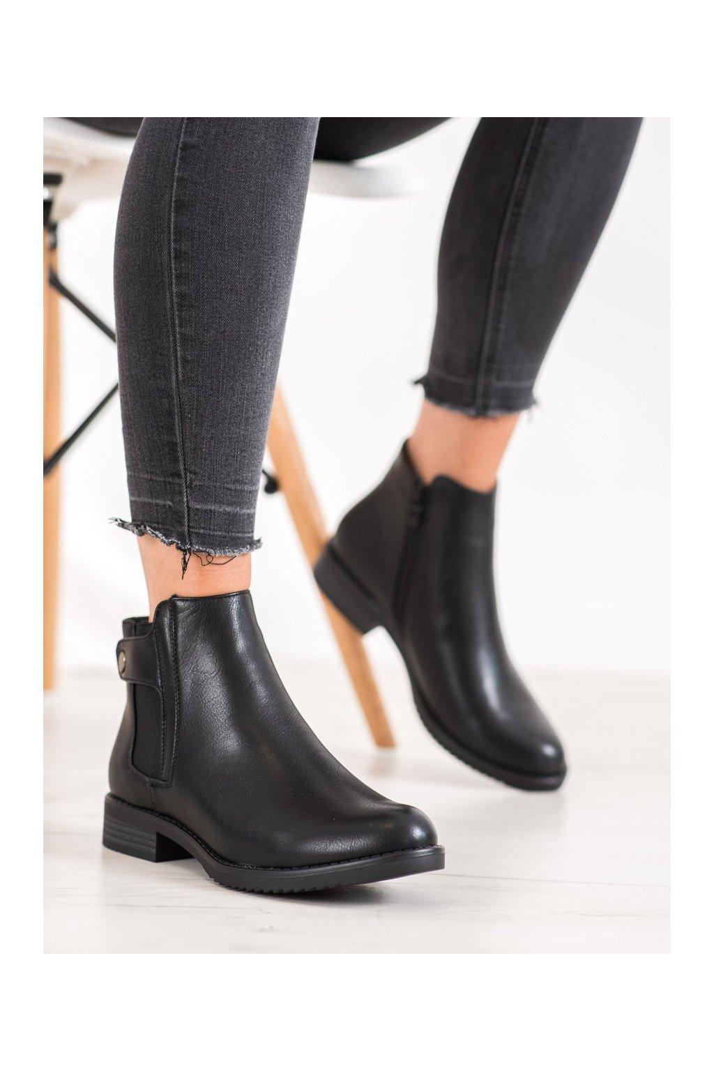 Čierne dámske topánky J. star kod S1813B