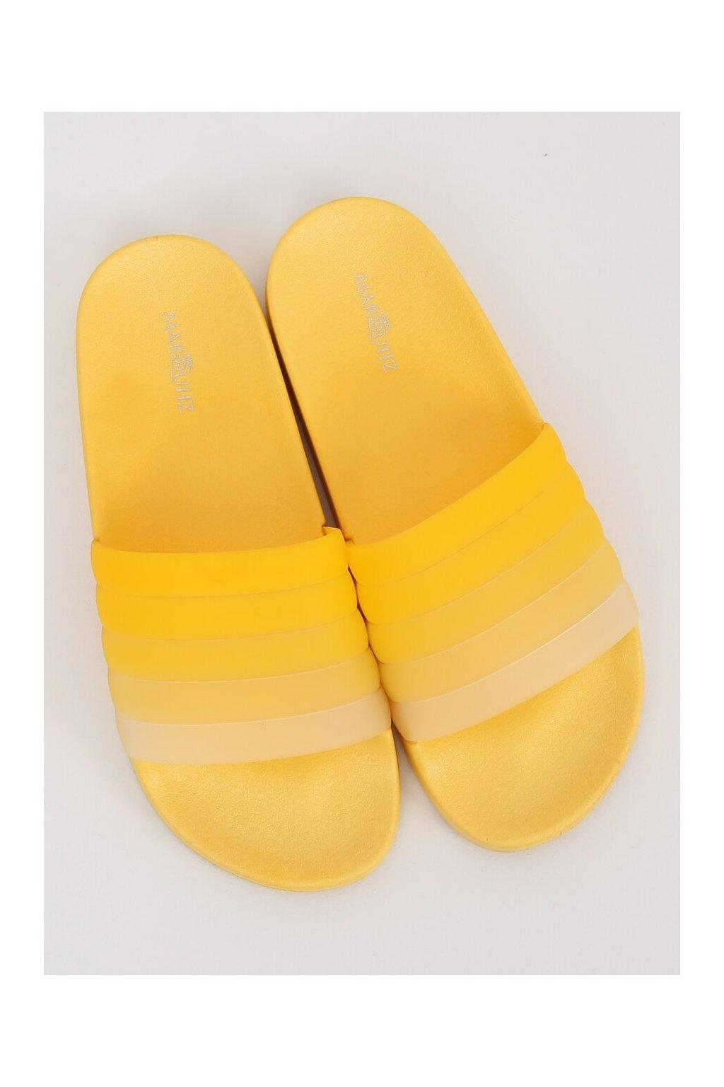 Damske šľapky žlté K-9183