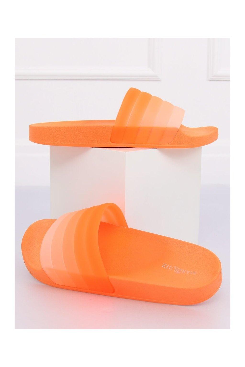 Damske šľapky oranžové K-9183