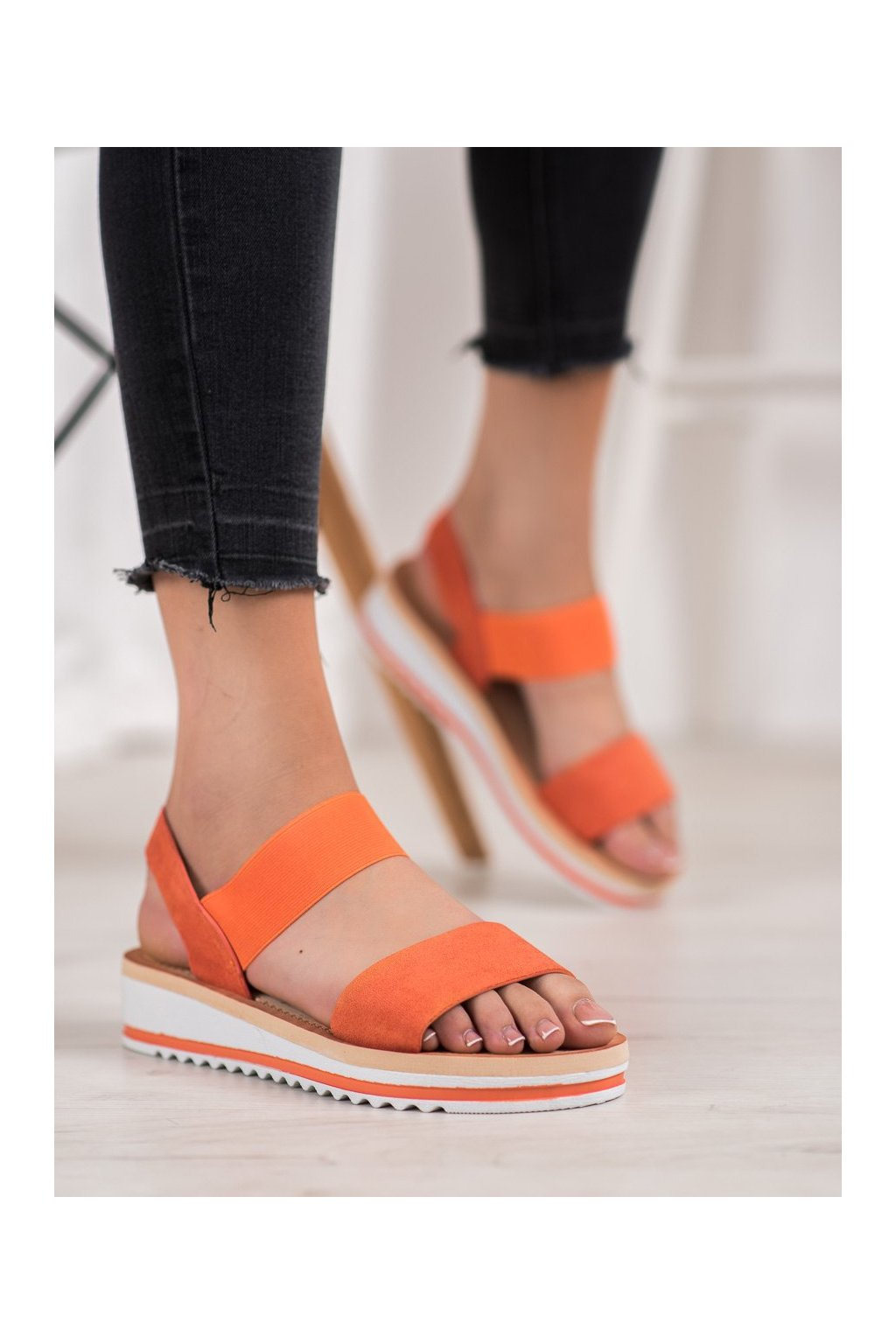 Oranžové sandále Mannika NJSK E008OR