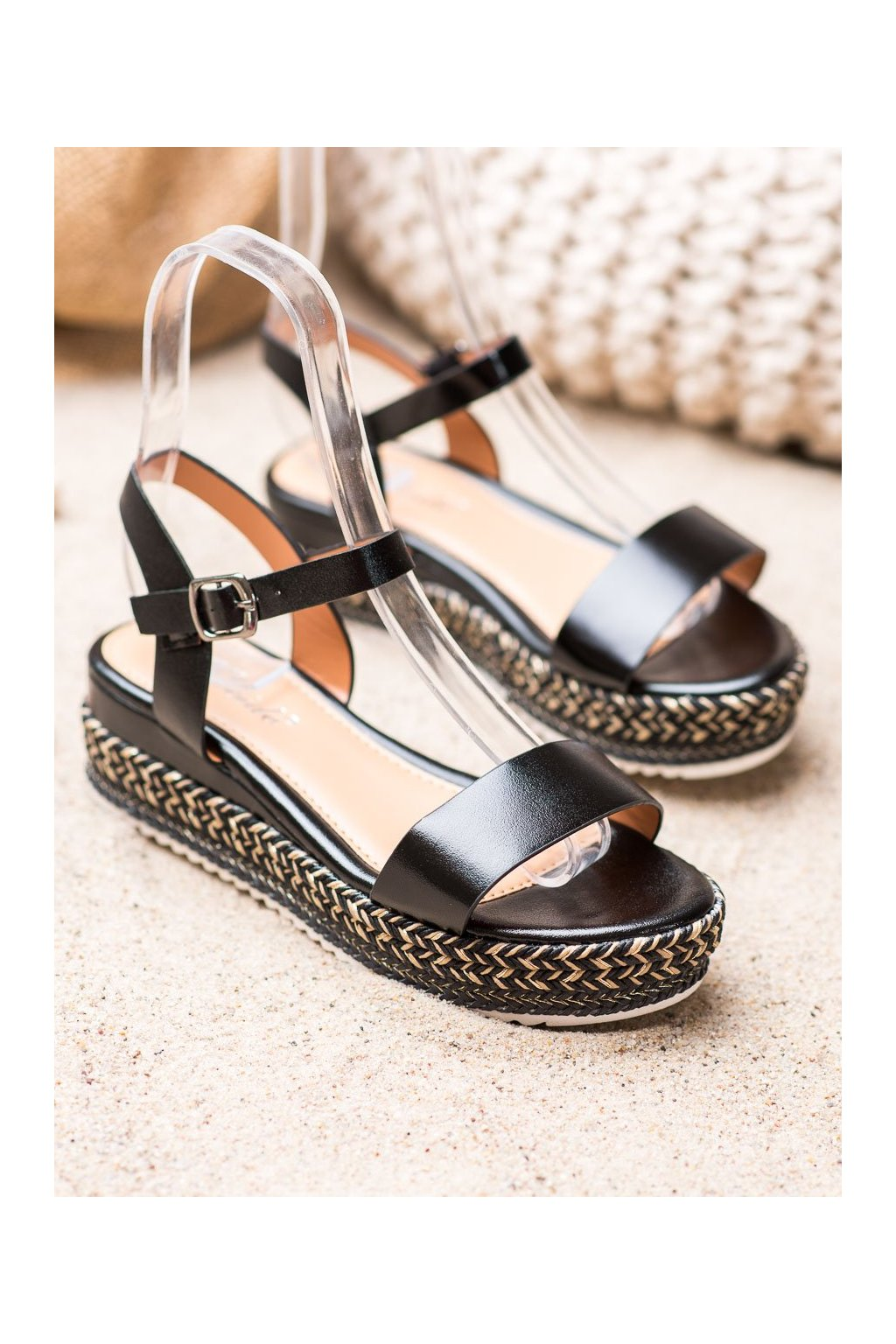 Čierne sandále Weide NJSK Y610B