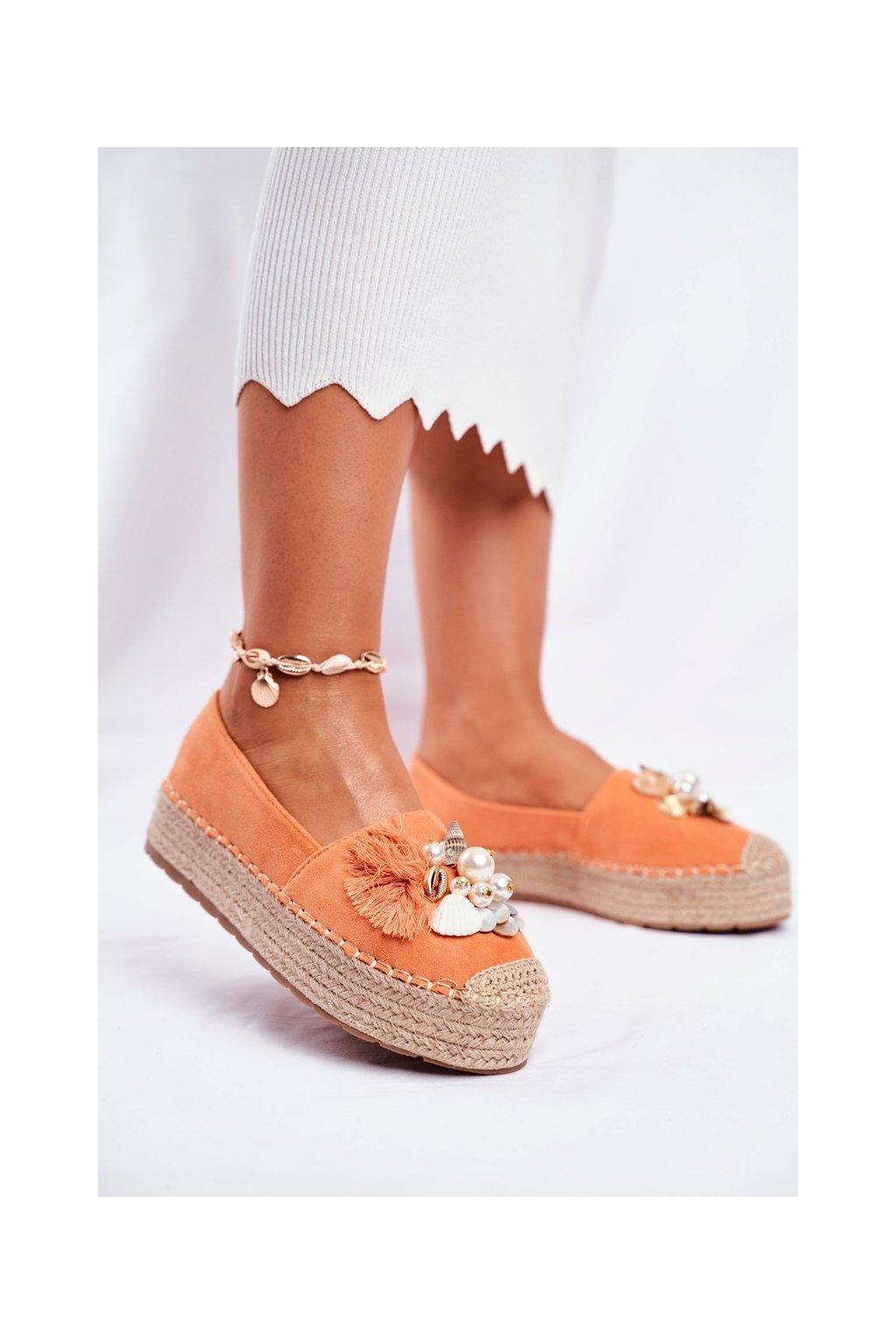 Dámske tenisky farba oranžová kód obuvi JH120 ORANGE