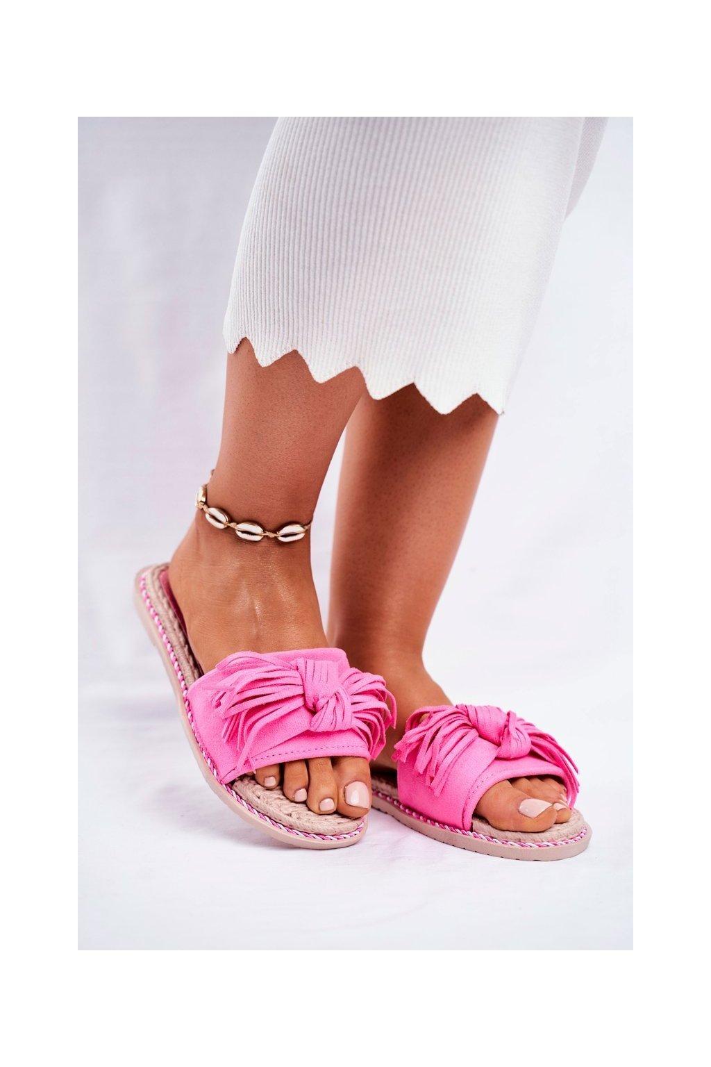 Dámske šľapky farba ružová kód obuvi CK159 FLUO FUCHSIA