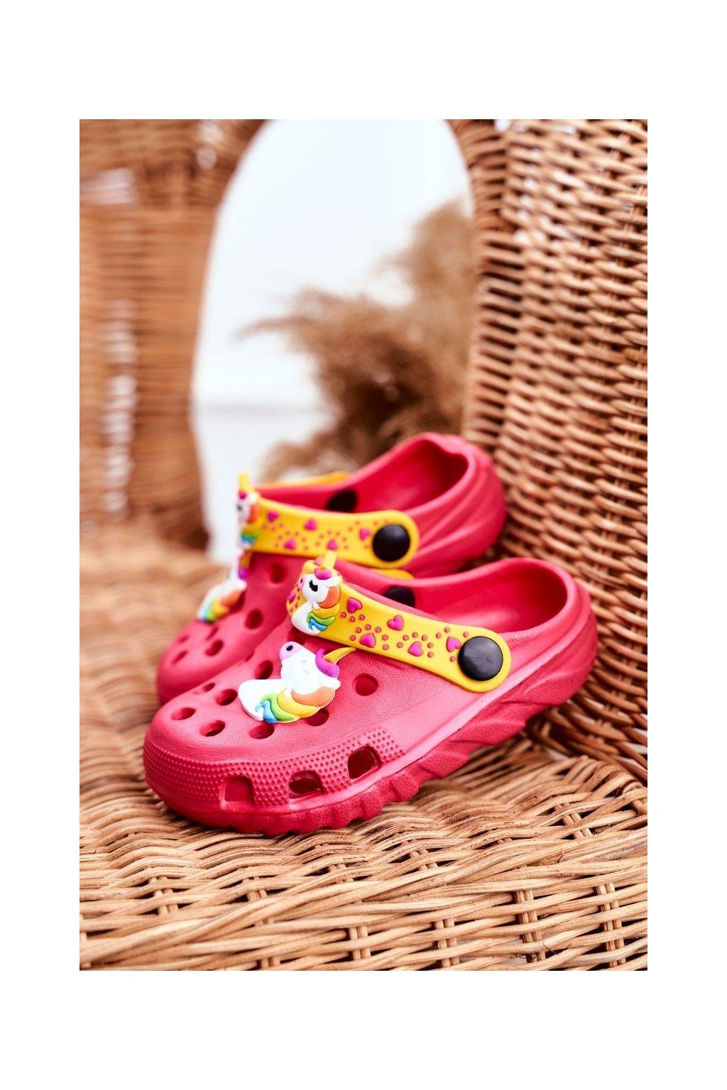 Detské šľapky farba ružová kód obuvi 209 PINK
