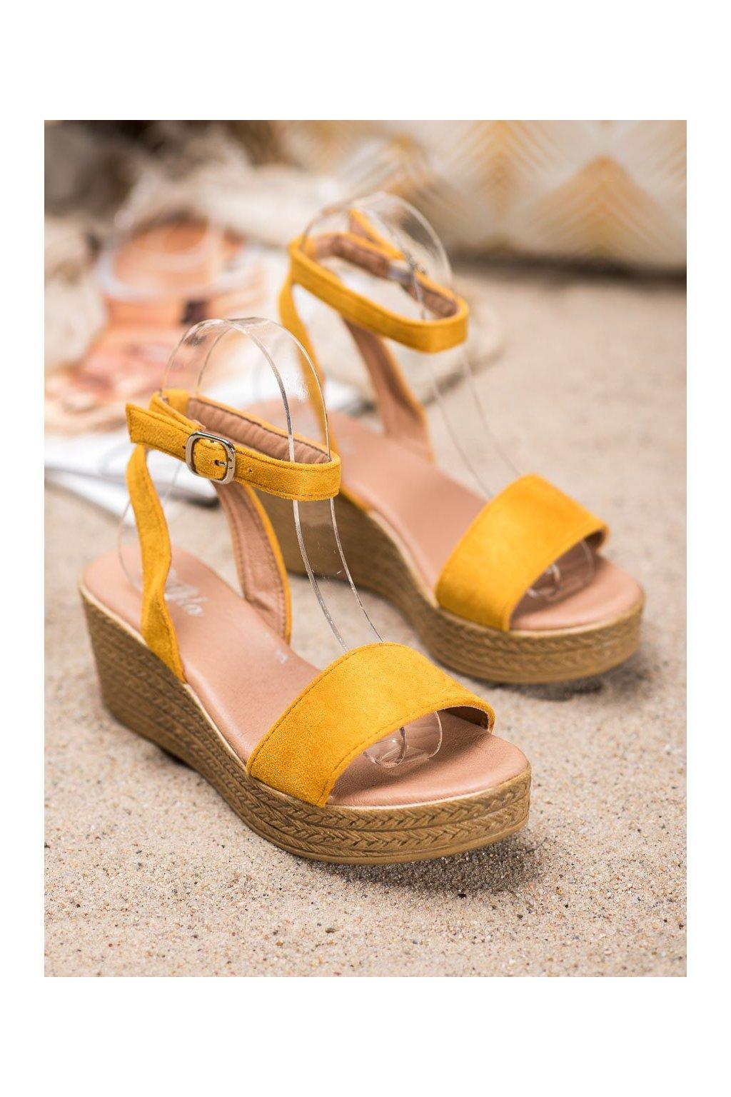 Žlté sandále Renda NJSK 019-18Y