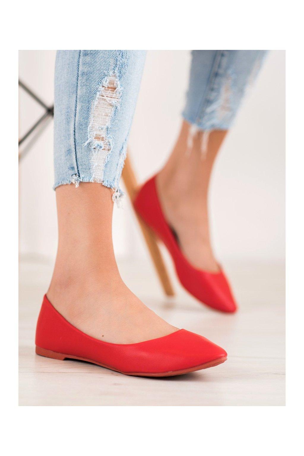 Červené dámske balerínky Seastar NJSK CC108R