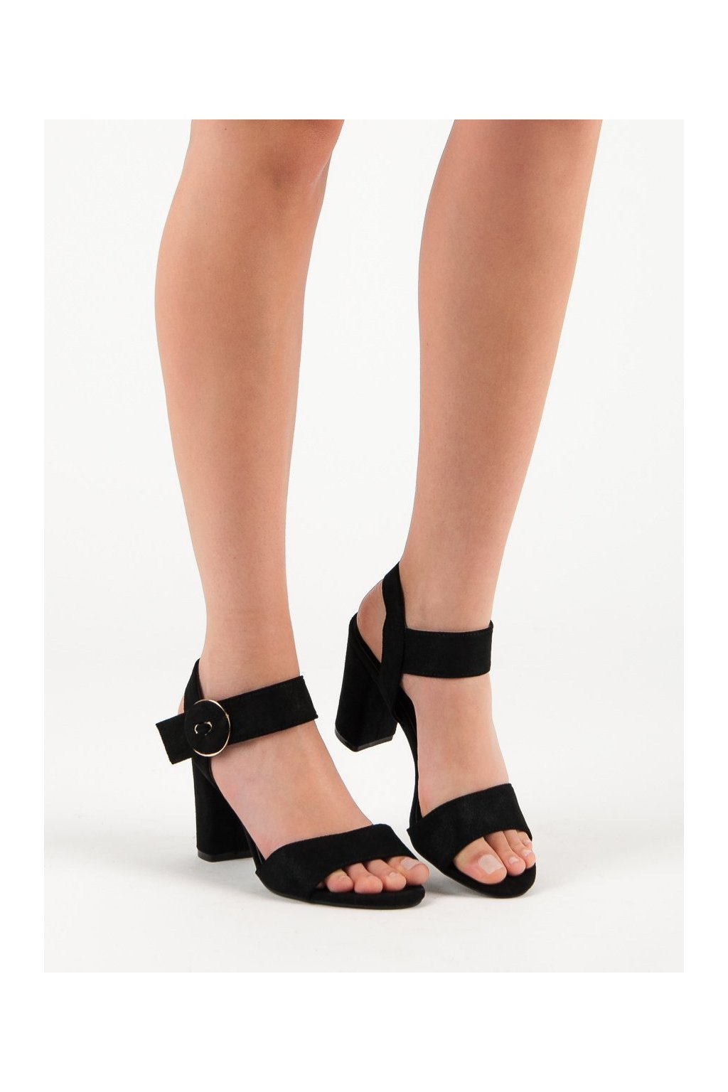 Čierne sandále Vinceza NJSK LE19-2883B